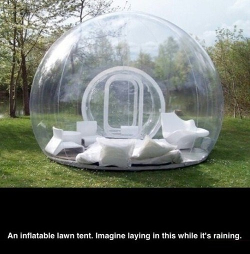 lawn tent, rain, inflatable