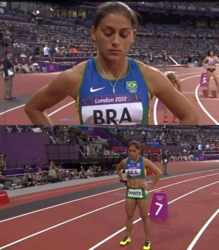 bra, pants, olympics, track and field, literal, photoshop, lol
