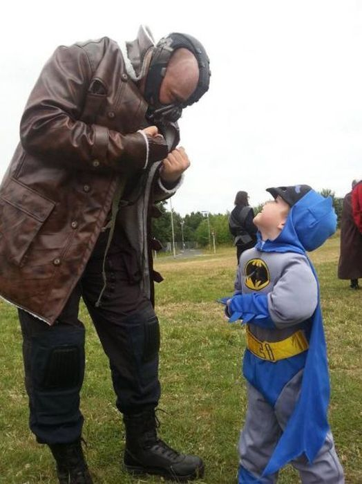 bane, batman costume, kid, cute