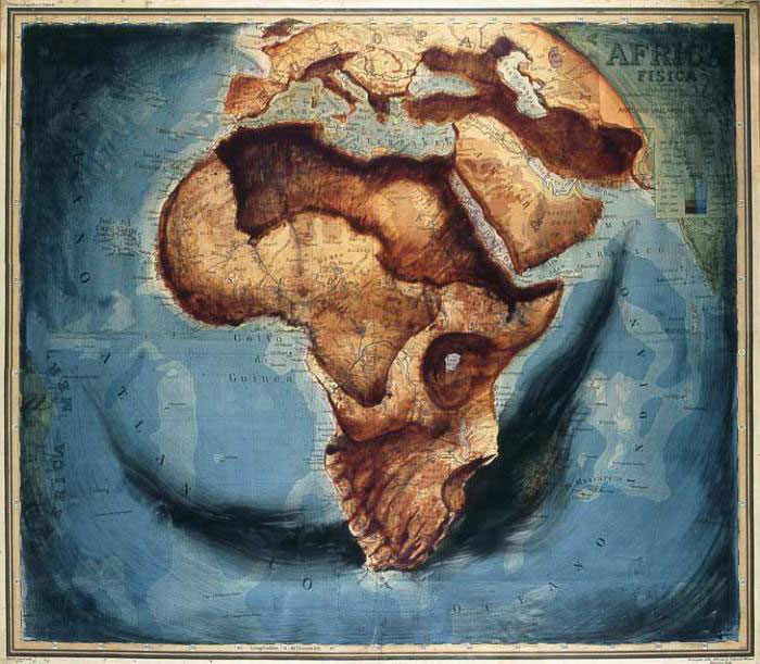 africa, skull, head, art, map