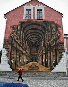 street art, optical illusion, graffiti