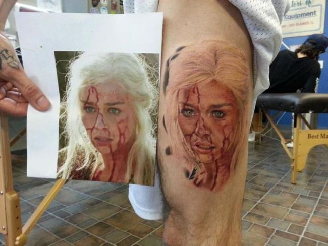 tattoo, game of thrones, daenerys targaryen, win, art
