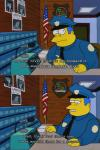 the simpsons, comic, chief wiggum, murderous rampage, fail