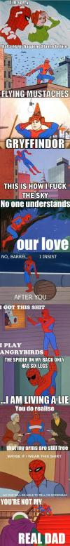 spiderman, cartoon, meme, lol, compilation, scenes