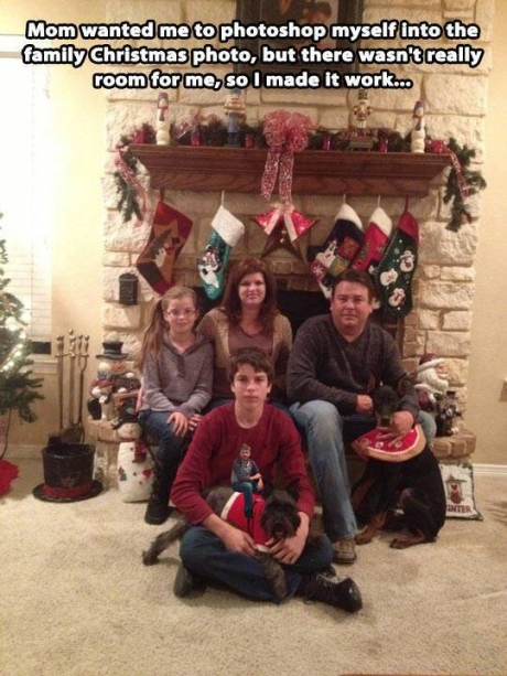 christmas, family photo, photoshop, story, lol