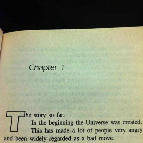 chapter 1, hitchhickers' guide to the galaxy