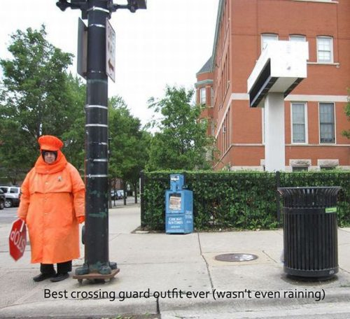 best crossing guard outfit, story, poorly dressed