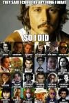 johnny depp, actor, roles, meme, be anything