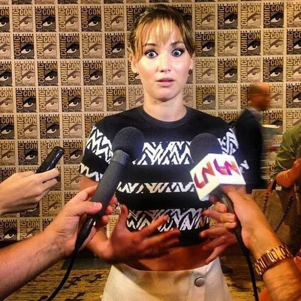 jennifer lawrence, derp, face