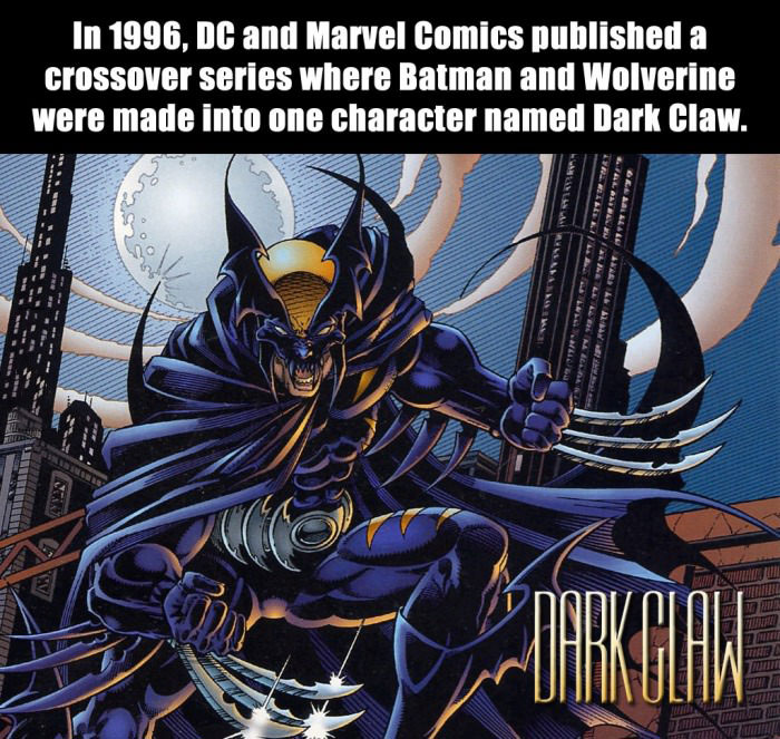 dark claw, 1996, batman vs wolverine, dc comics, marvel
