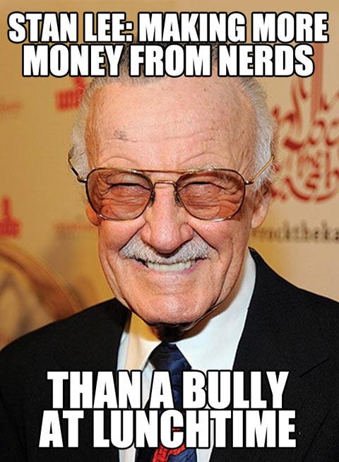 meme, stan lee, nerds, bully, comic books