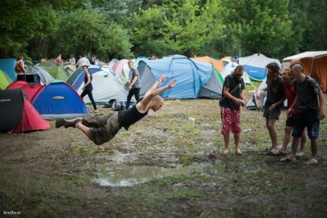 jump into mud, timing, tents, festival
