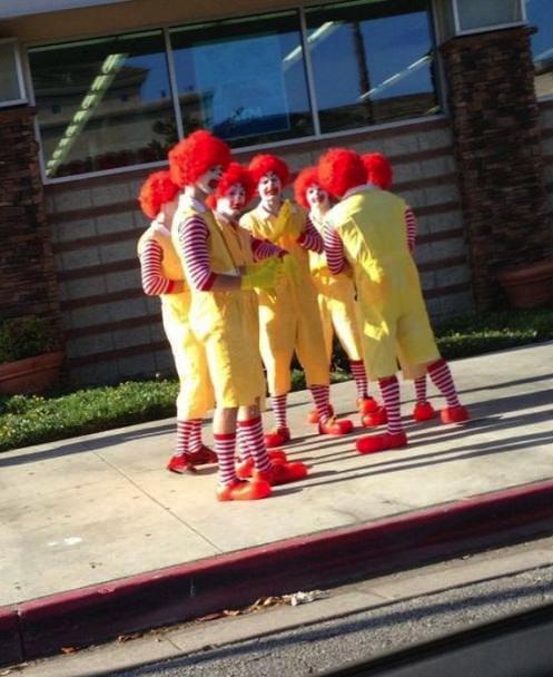 mcdonald's, ronald mcdonald, gathering of clowns