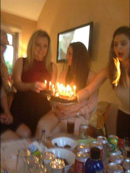 hair, fire, cake, candles, lol, timing