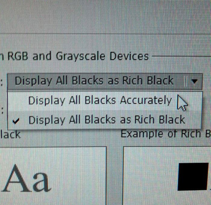 adobe, photoshop, display all black accurately, rich black, wtf, lol