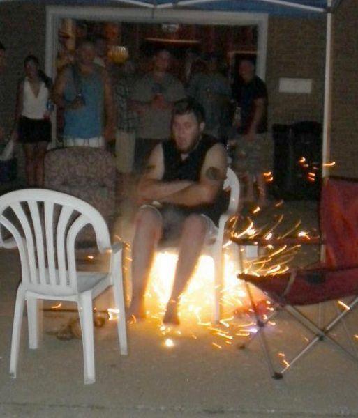 chair, sparks, wtf, friends, fire, prank, troll