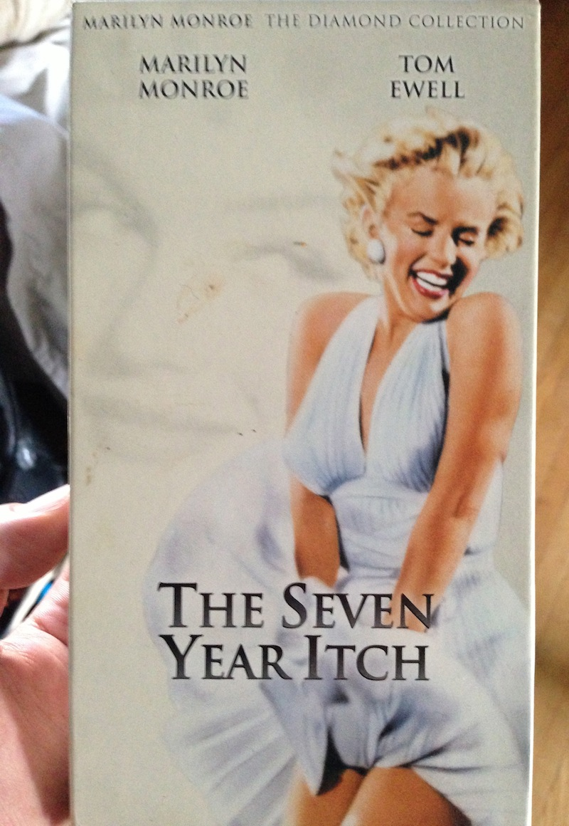 movie, vhs, the seven year itch, title, marilyn monroe