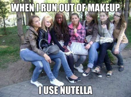 tan, girl, make up, nutella, wtf, meme, fail