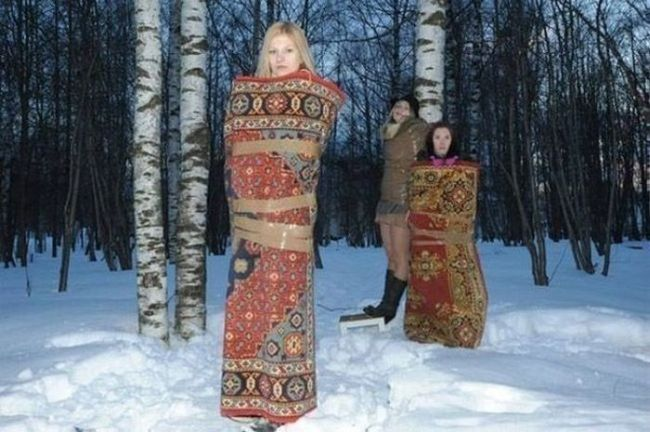 carpet, forest, winter, wtf, girls