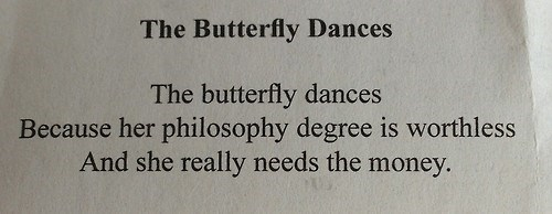 butterfly dances, poem, philosophy, wtf