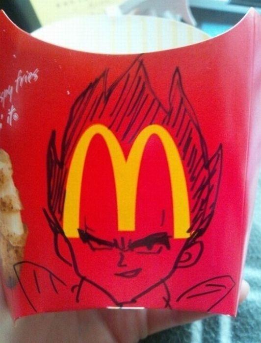dragonball z, mcdonald's fries, logo