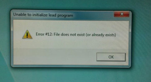 error 12, file does not exist or already exists, wtf