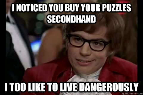meme, austin powers, second hand puzzles, live dangerously, missing pieces