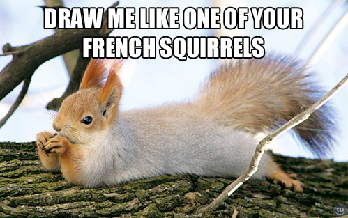 draw me like one of your french squirrels, meme