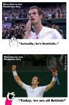 tennis, hypocrite announcers, scottish, british, 2012, 2013