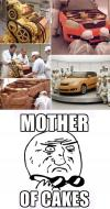 mother of cakes, huge, big, win, car, machinery, art