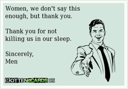 ecard, women, thank you, killing in sleep