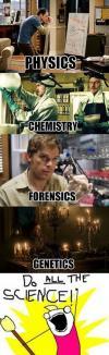 science, tv, physics, chemistry, forensics, genetics