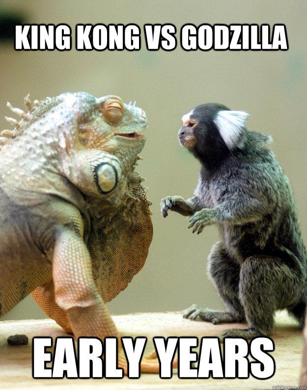 meme, king kong, godzilla, early years