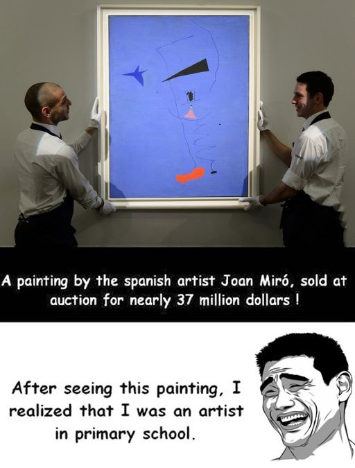 art, auction, wtf, joan miro, painting