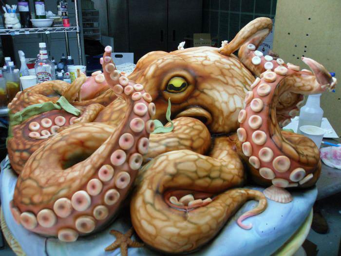 octopus cake, art, win