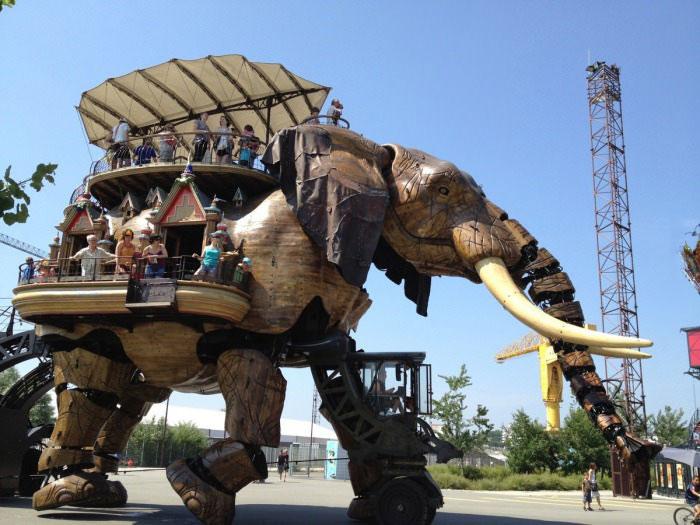 mechanical elephant, vehicle, wtf, robot