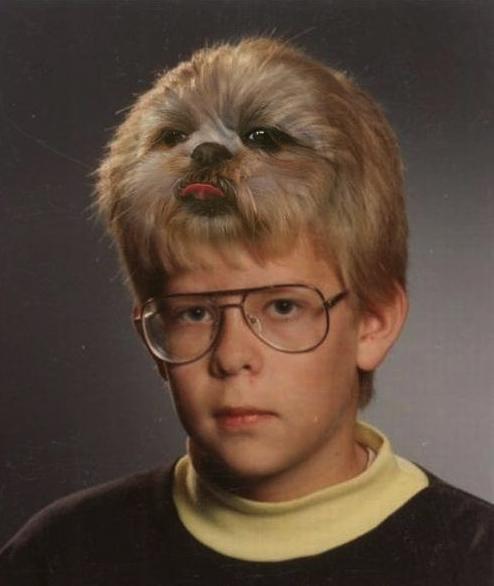 boy, dog, photoshop, lol, wtf, hair, creepy