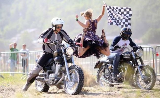 timing, motorcycle race, jump