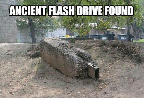 ancient flash drive, usb, rock, wtf, huge