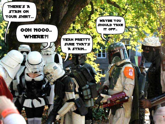 storm troopers, comicon, fan, star wars, female, stain