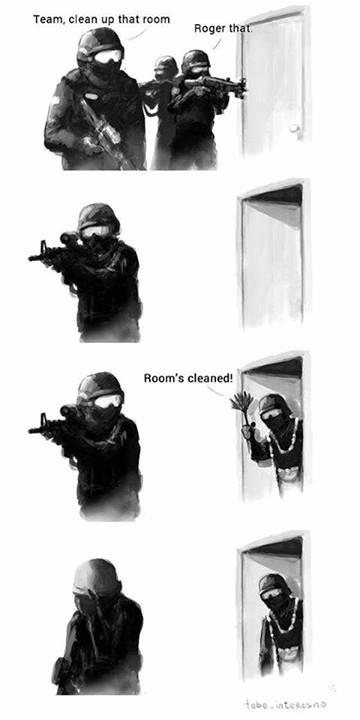 clean that room, swat, jargon