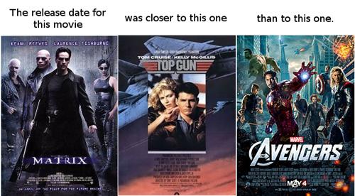 matrix, avengers, top gun, feeling old yet