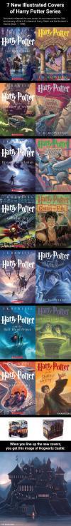 harry potter books, new cover art