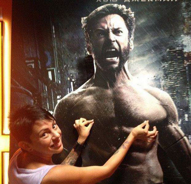 the wolverine, nipple pinch, lol, movie poster, hacked irl