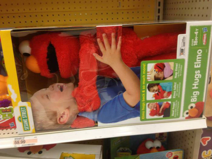 big hug elmo, kid, strangle, lol, product