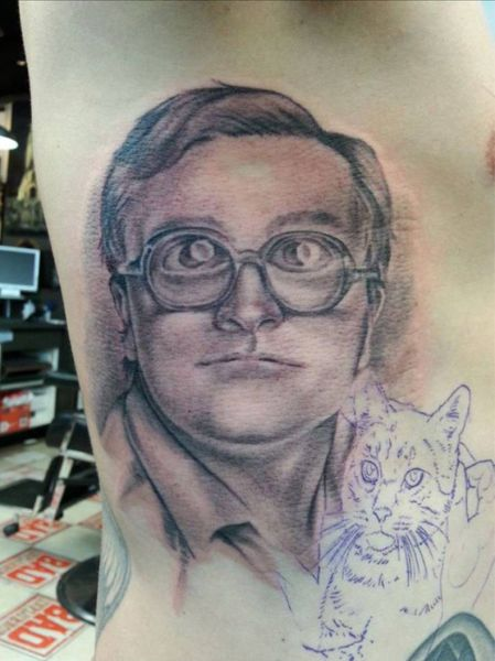 trailer park boys, bubbles, tattoo, cat, wtf