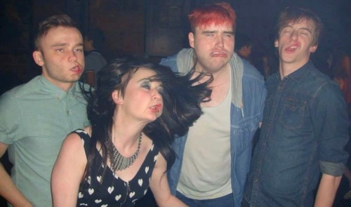 gurn, photobomb, party, face, lol