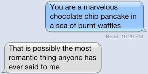iphone, romantic, marvellous chocolate chip, burnt waffles