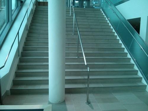 construction fail, load bearing pillar, stairs