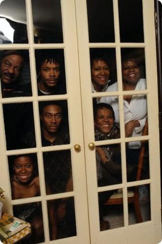 family portrait, wtf, window squares, outside